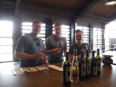 Zach, Nick, and Ian at 14 Hands Winery