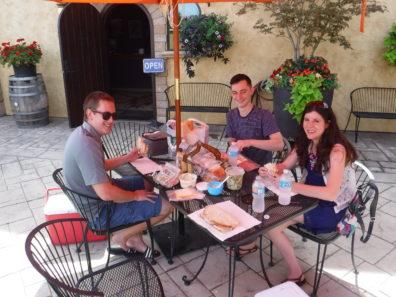 Lunch in Vintner's Village outside of McKinley Springs