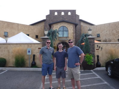 Nick, Ian, and Zach outside of Vintner's Village