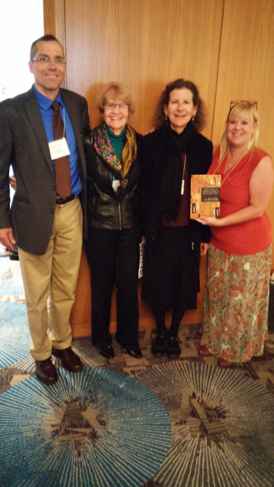 Shown are Jim Walker (Editor, Camden House), Helene Zimmer-Loew, and co-editors Rachel J. Halverson and Carol Anne Costabile-Heming at Zimmerman-Loew's presentation of anthology.