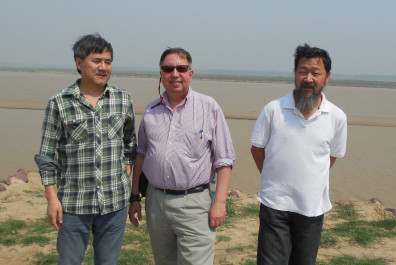 Xiao Kaiyu (left), Christopher Lupke (middle), Geng Zhanchun (right)