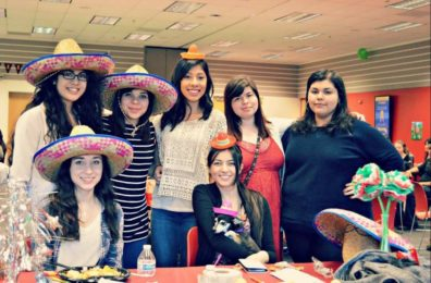 The Spanish club officers at Fiesta Night.