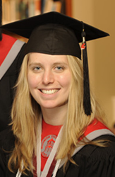 Anna Howell at her graduation in 2008.