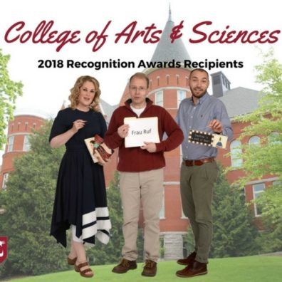 College of Arts and Sciences Award Winners from Department of Foreign Languages and Cultures
