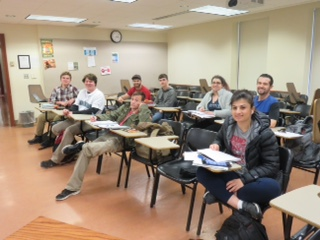 Russian 204 students sitting in class.