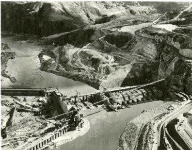 Grand Coulee Dam construction. Courtesy of WSU Libraries, MASC.