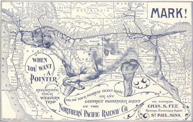 Northern Pacific Railway map, 1896. Courtesy of WSU Libraries, MASC.