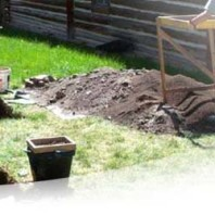 archaeological dig out west