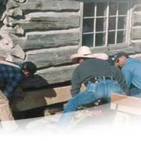 repairing old cabin