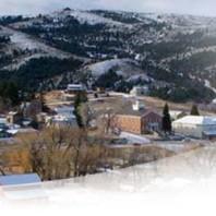 mountain scenery in winter