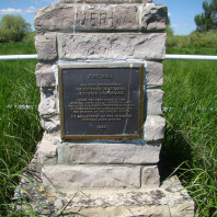 """Fort Hall historic landmark located in the """"bottoms"""" at the Fort Hall Indian Reservation."""