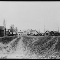 Historic photo of Laurin, MT circa 1870.