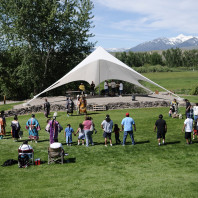 Powwow grounds at the Sacajawea Cultural Center, Salmon, ID
