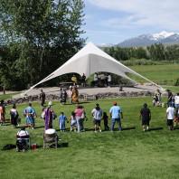 Powwow grounds at the Sacajawea Cultural Center, Salmon, ID