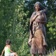 Statue of Sacajawea at the Sacajawea Cultural Center, Salmon, ID.