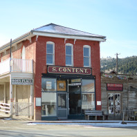 Content Building, where Chief Tendoy and several sub-chiefs signed the Cession Document, January 3, 1870 in Virginia City, MT.