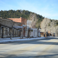 Contemporary main street, Virginia City, MT.