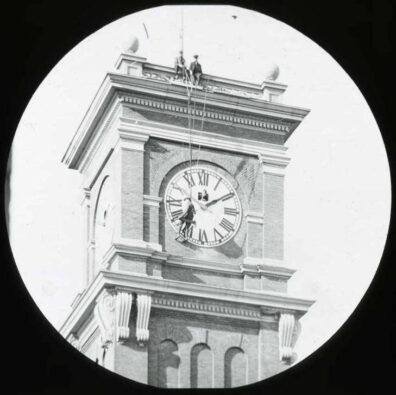 Image of Bryan Hall Clock Tower, 1922, courtesy of WSU Manuscripts, Archives & Special Collections