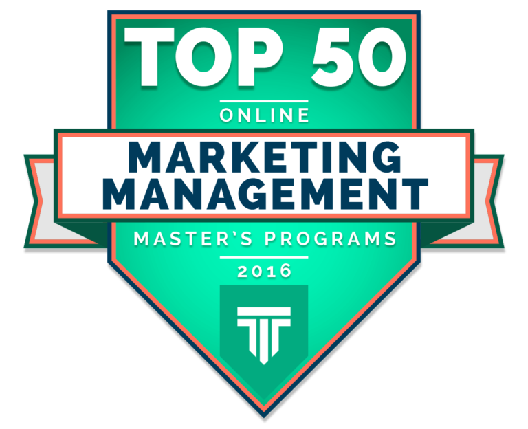 Top 50 online marketing programs badge