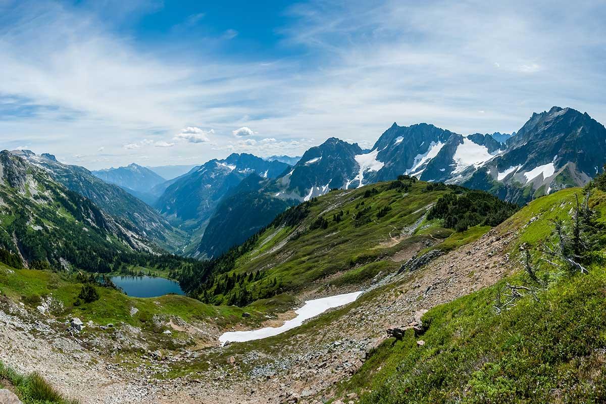 High mountain scene