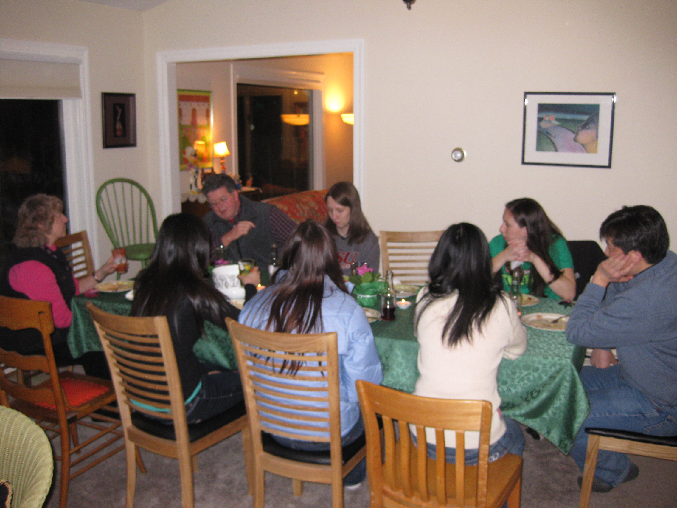 Group Chowing Down