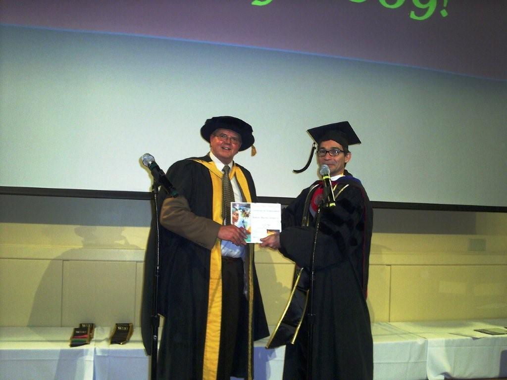 Hooding a graduate