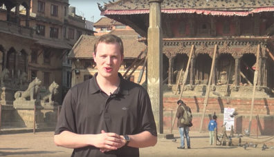Student reporter in Nepal