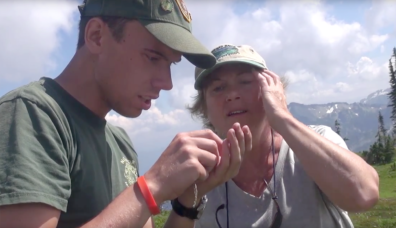 Researchers on Mount Rainier
