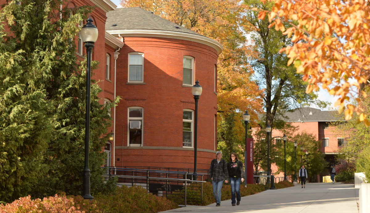 Murrow Hall during the fall