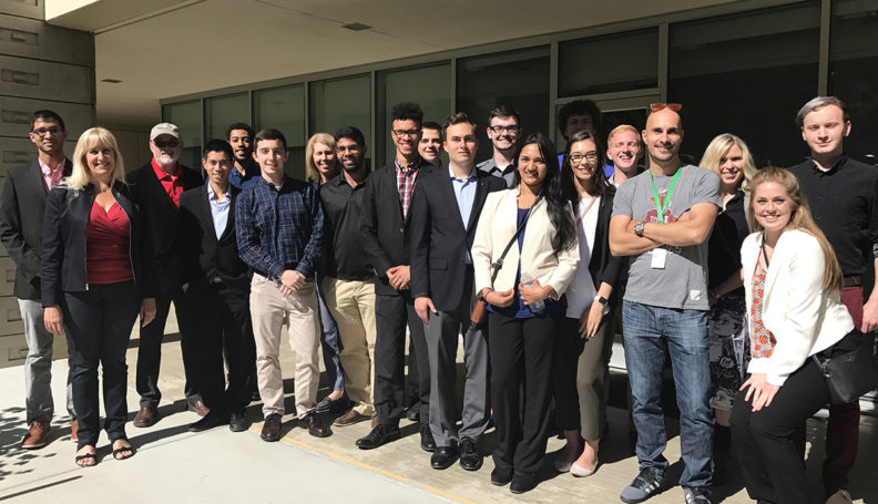 Group of students and faculty in Silicon Valley