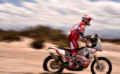Motorcycle at Dakar