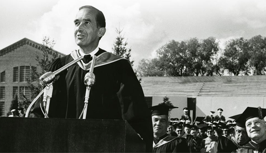 Murrow giving speech