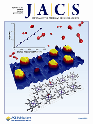 Cover of the Journal of American Chemical Society, from September 2012