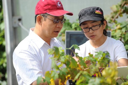Dr Qin Zhang with student