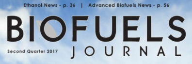 Snippet of Biofuels Journal cover, Second Quarter 2017