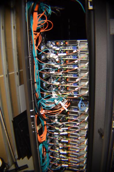 Data Center wires on hardware