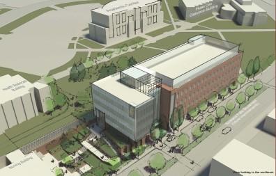 architctural rendering of nursing building