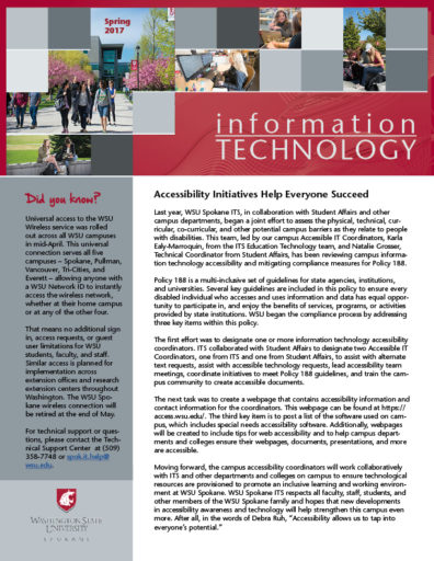information technology newsletter