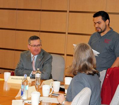 WSU President Kirk Schulz meeting with APAC