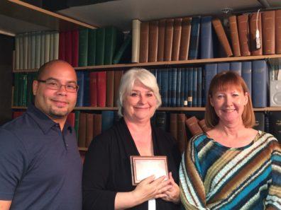 Sammy Rodriguez Flecha (L), Nancy Shrope (C), Pam Kelley (R)