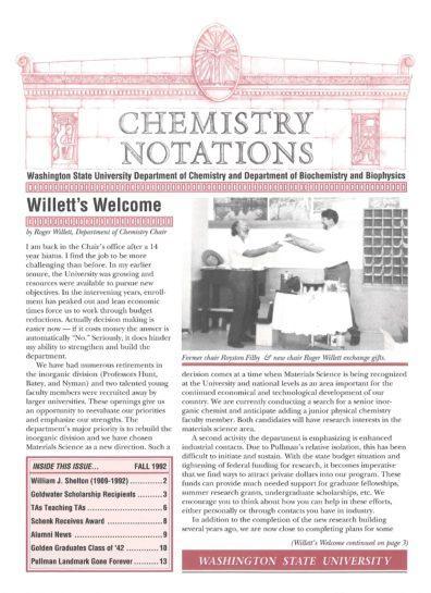 1992 Fall Newsletter