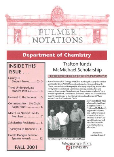 2001 Fall Newsletter