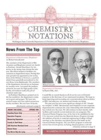 1991 Spring Newsletter