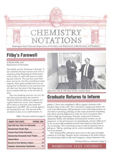 1992 Spring Newsletter