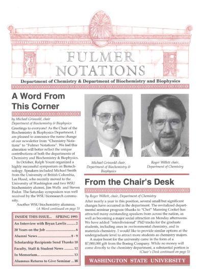 1993 Spring Newsletter