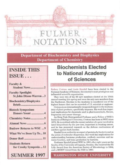 1997 Summer Newsletter