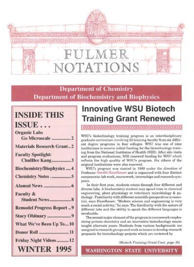 1995 Winter Newsletter