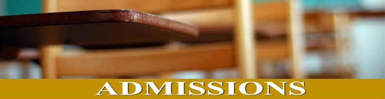 Admissions Banner