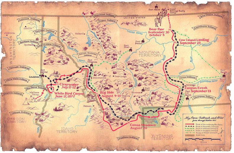 Nez Perce map