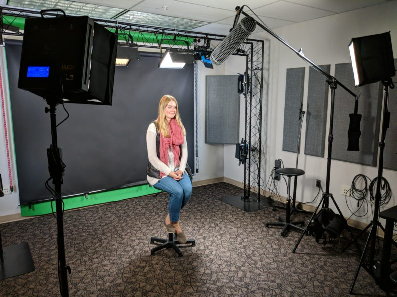 Katie Merrick in studio